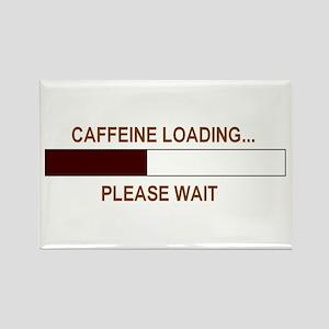 CAFFEINE LOADING... Rectangle Magnet