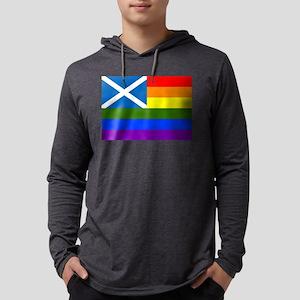 LGBT Flag of Scotland - Rainbo Long Sleeve T-Shirt