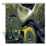 Blue Confusion Decor Shower Curtain