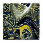 Blue Confusion Decor Tile Coaster