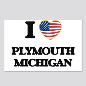 I love Plymouth Michigan Postcards (Package of 8)