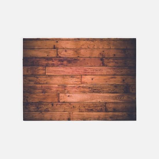 Old Wood Planks 5'x7'Area Rug