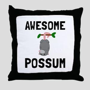 Awesome Possum Throw Pillow