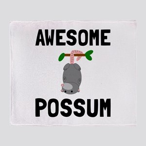 Awesome Possum Throw Blanket