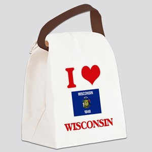 I Love Wisconsin Canvas Lunch Bag