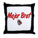 USAF Major Brat  Throw Pillow
