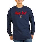 USAF Major Brat Long Sleeve Dark T-Shirt