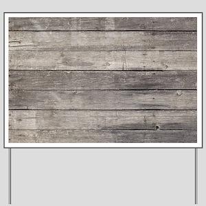 Old Wood Planks Yard Sign