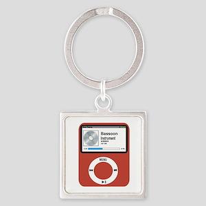 Ipad Bassoon Square Keychain