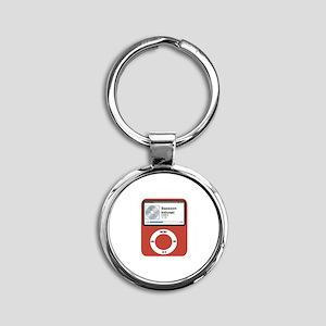 Ipad Bassoon Round Keychain