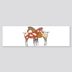 Two Horse Appaloosa & Paint Design Bumper Sticker