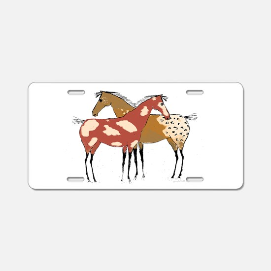 Two Horse Appaloosa & Paint Design Aluminum Licens
