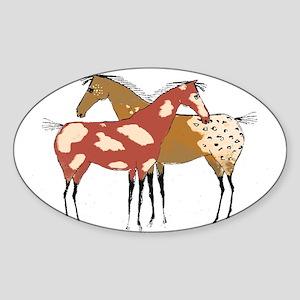 Two Horse Appaloosa & Paint Design Sticker