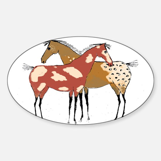 Two Horse Appaloosa & Paint Design Decal