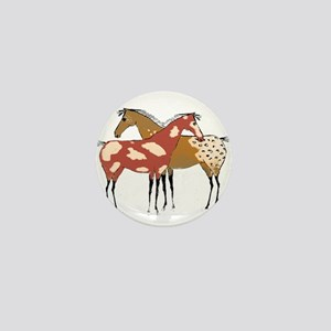 Two Horse Appaloosa & Paint Design Mini Button