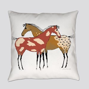 Two Horse Appaloosa & Paint Design Everyday Pillow