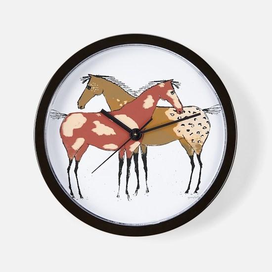 Two Horse Appaloosa & Paint Design Wall Clock
