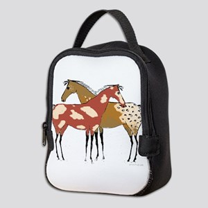 Two Horse Appaloosa & Paint Design Neoprene Lunch