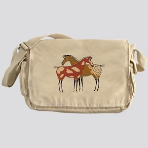 Two Horse Appaloosa & Paint Design Messenger Bag
