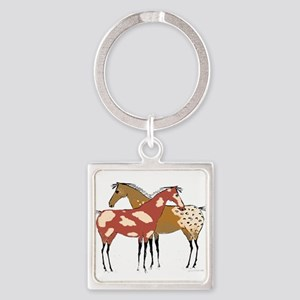 Two Horse Appaloosa & Paint Design Keychains