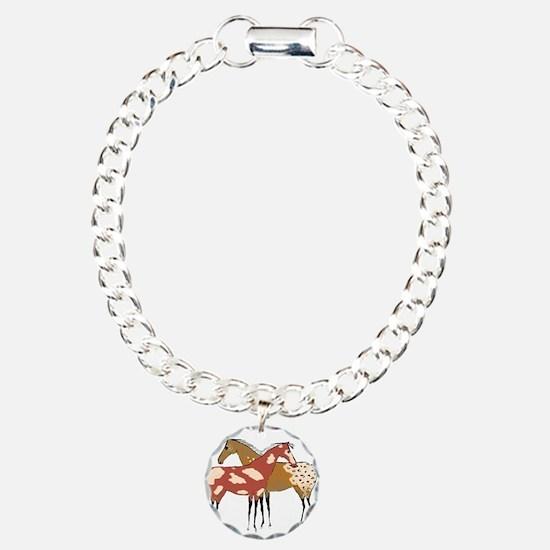 Two Horse Appaloosa & Paint Design Bracelet