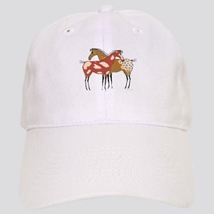 Two Horse Appaloosa & Paint Design Baseball Cap