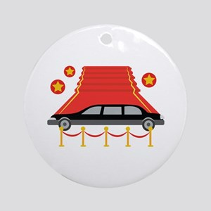 Red Carpet Limo Ornament (Round)