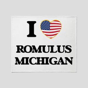 I love Romulus Michigan Throw Blanket