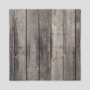 Old Wood Planks Queen Duvet