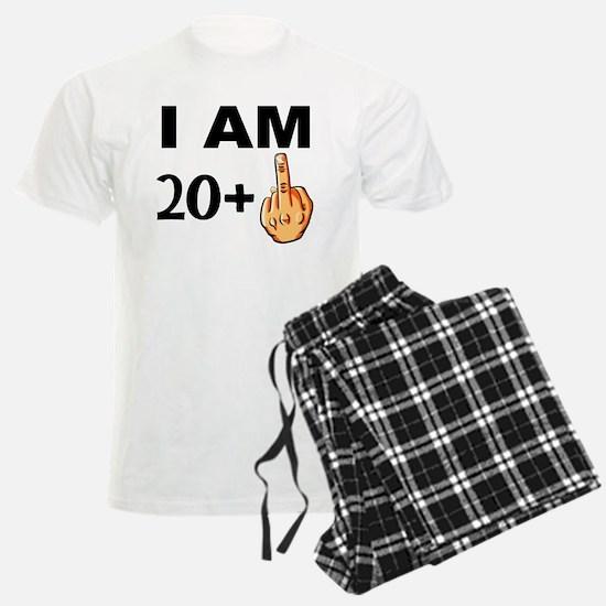 Middle Finger 21st Birthday Pajamas