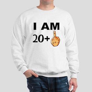 Middle Finger 21st Birthday Sweatshirt