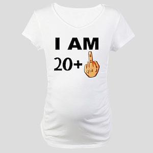 Middle Finger 21st Birthday Maternity T-Shirt