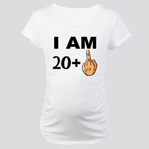 Middle Finger 21st Birthday Maternity T Shirt