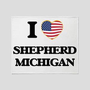 I love Shepherd Michigan Throw Blanket