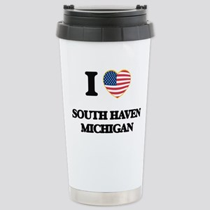 I love South Haven Mich Stainless Steel Travel Mug
