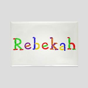 Rebekah Balloons Rectangle Magnet