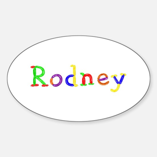Rodney Balloons Oval Decal