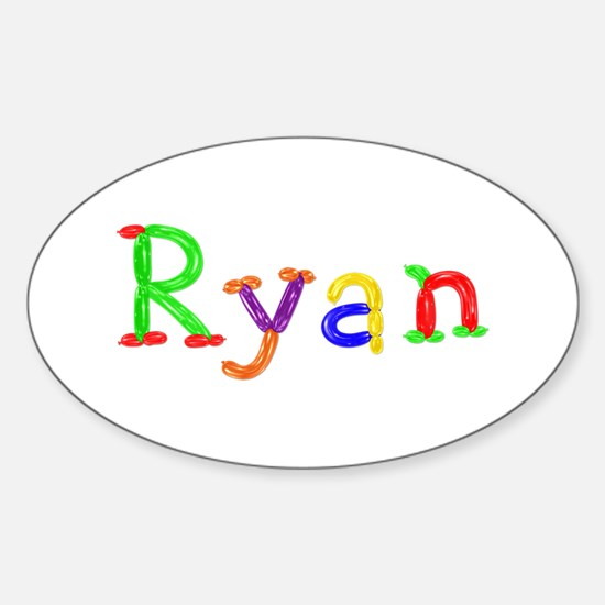 Ryan Balloons Oval Bumper Stickers