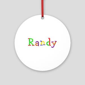 Randy Balloons Round Ornament