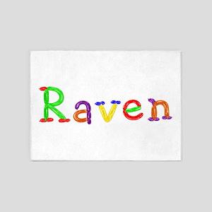 Raven Balloons 5'x7' Area Rug