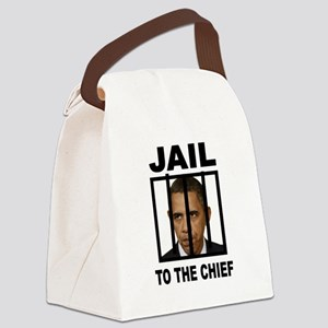 OBAMA JAIL BARS Canvas Lunch Bag
