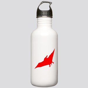 Pterodactyl Silhouette (Red) Water Bottle
