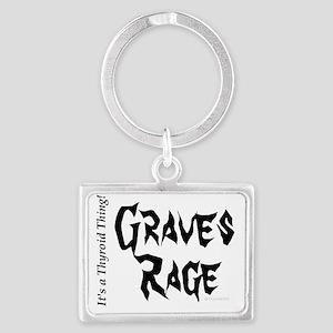 Thyroid Graves Rage Landscape Keychain