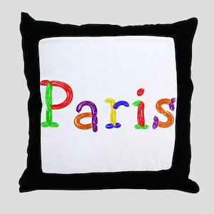 Paris Balloons Throw Pillow