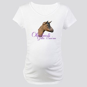 Oberhasli Goat Gotta Love'em Maternity T-Shirt