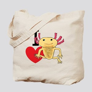 I Love Axolotls Tote Bag