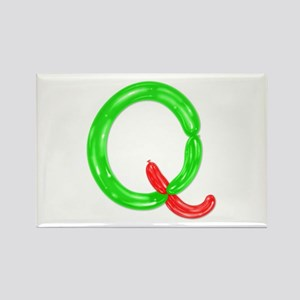 Q Balloons Rectangle Magnet