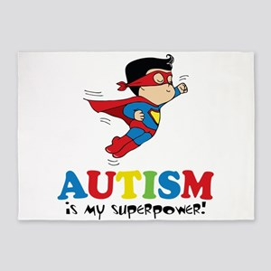 Autism is my superpower! 5'x7'Area Rug