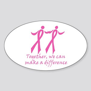 Make a Difference Together Oval Sticker