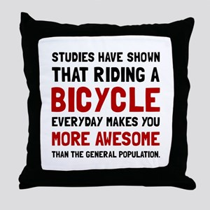Bicycle More Awesome Throw Pillow